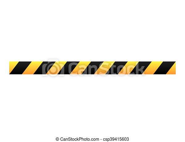 tape dont cross precaution - csp39415603