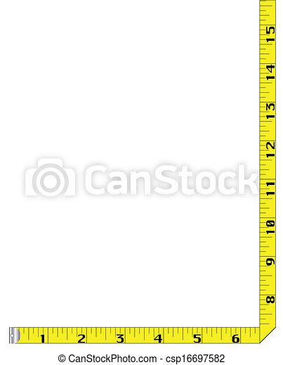 Tape Measure Border - csp16697582