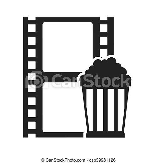 Tape Record With Cinema Icon Vector Illustration Design