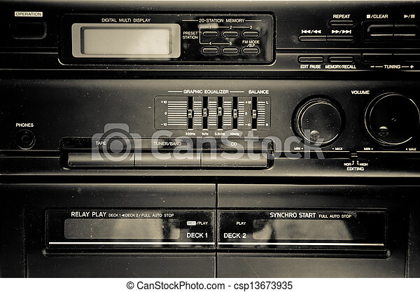 tape recorder - csp13673935
