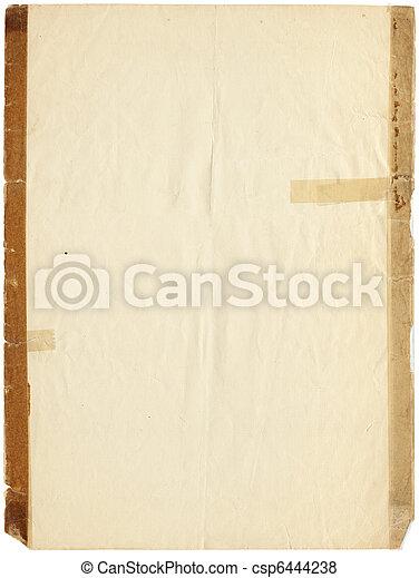 taped, papper, gammal - csp6444238
