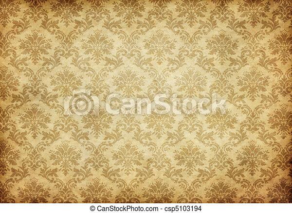 tapete, altes , damast - csp5103194