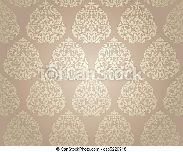 tapete, seamless, damast - csp5220918
