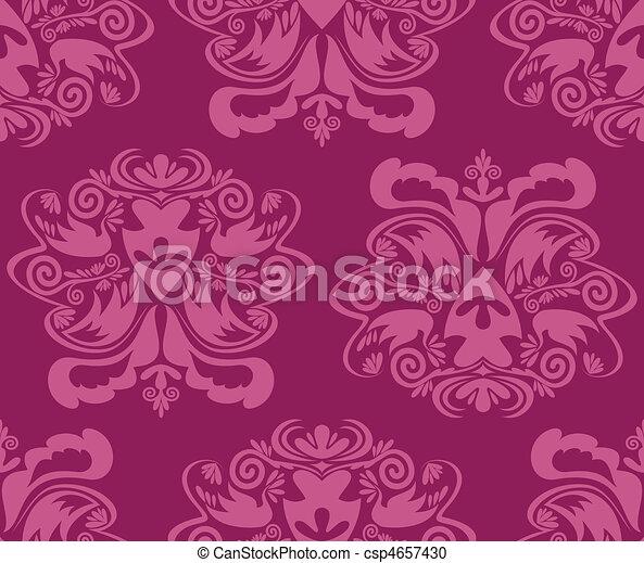 tapete, seamless, damast - csp4657430