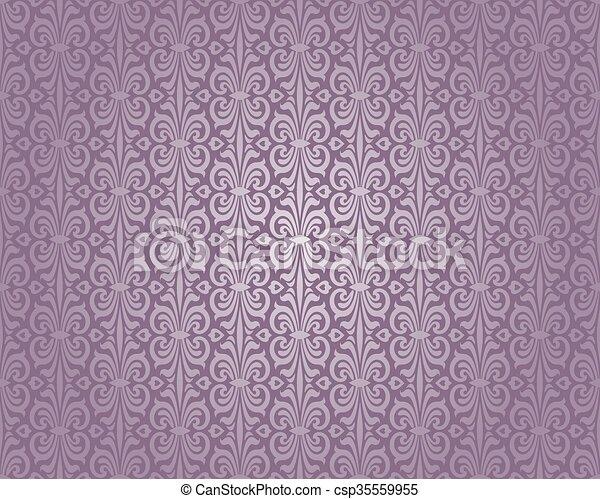 Tapete Violett Luxus Silber Muster Tapete Luxus Weinlese