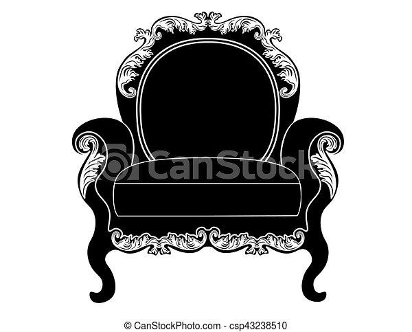 Tapizado, vendimia, armchai. Estilo, armchair., rico, furniture ...
