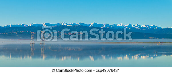 Tararua Rangers Winter Reflection - csp49076431