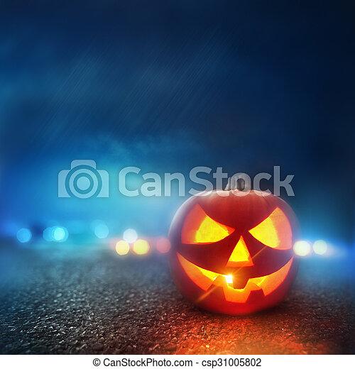 tarde, halloween - csp31005802
