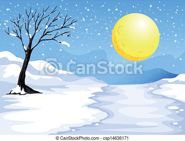 Noche de nieve - csp14636171