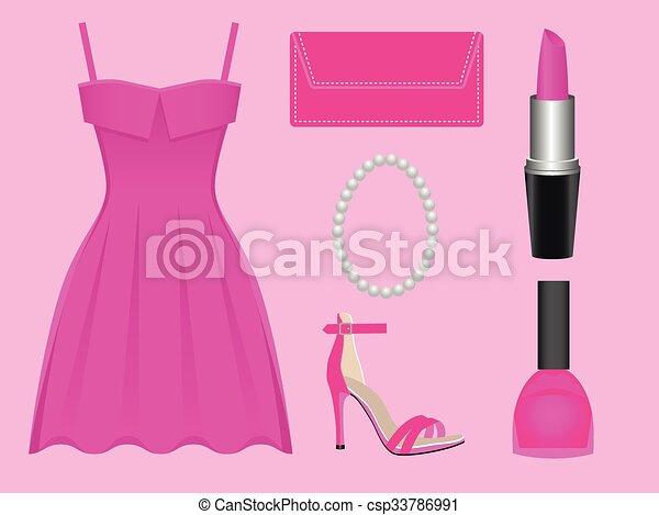 Vestido de rosa - csp33786991