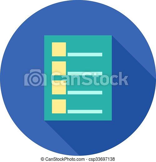 tareas, lista - csp33697138