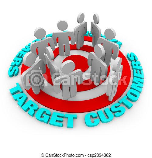 Target Customers - Red Target - csp2334362