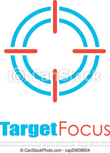 target focus abstract logo target focus abstract vector clipart rh canstockphoto com target free vector download target cartwheel vector logo