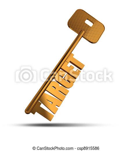 Target gold key - csp8915586