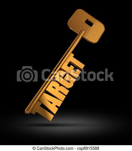 Target gold key - csp8915588