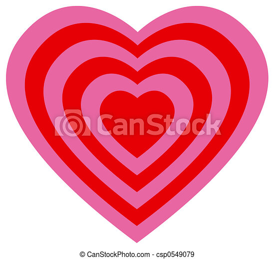Target heart - csp0549079