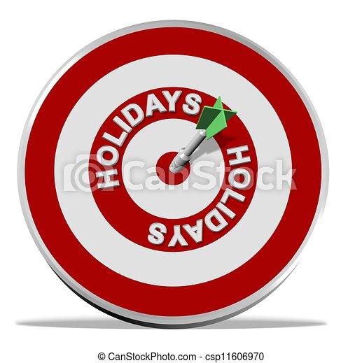 Target holidays - csp11606970