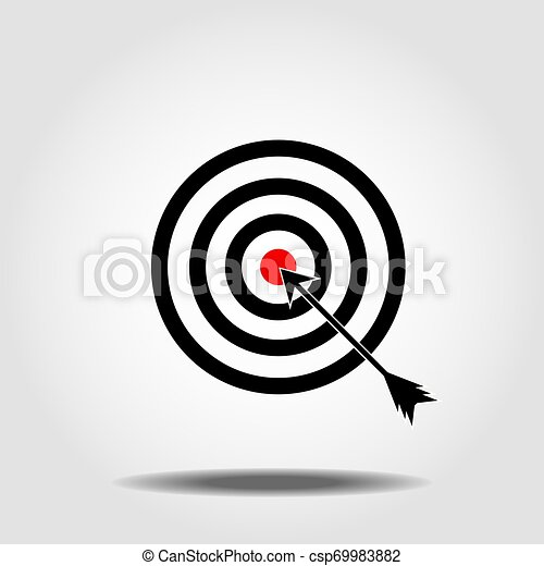 Target Icon in trendy flat style isolated on white background. Aim symbol for your web site design, logo, app, UI. Vector illustration, EPS10 - csp69983882