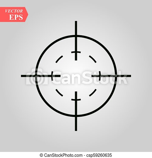 Target icon in trendy flat style isolated on white background. Symbol for your web site design, logo, app, UI. Vector illustration, EPS - csp59260635