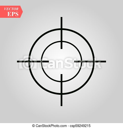 Target icon in trendy flat style isolated on white background. Symbol for your web site design, logo, app, UI. Vector illustration, EPS - csp59249215