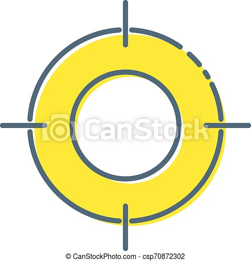 Target Icon in trendy flat style isolated on white background. Aim symbol for your web site design, logo, app, UI. Vector illustration. - csp70872302