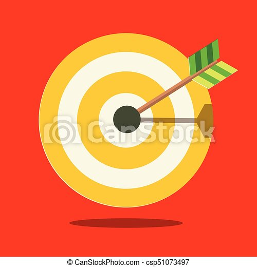Target Icon on Red Background - csp51073497
