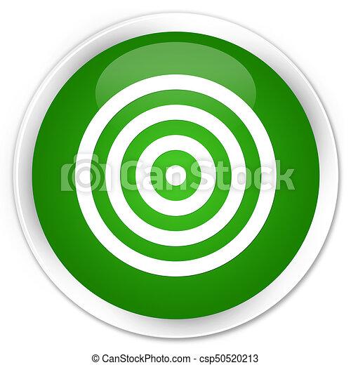 Target icon premium green round button - csp50520213