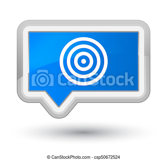 Target icon prime cyan blue banner button - csp50672524