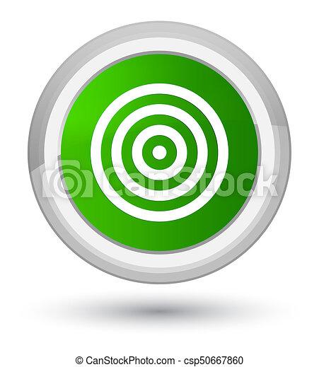 Target icon prime green round button - csp50667860