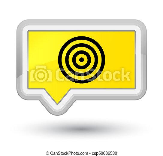 Target icon prime yellow banner button - csp50686530
