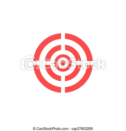 Target icon - vector background. - csp37603269