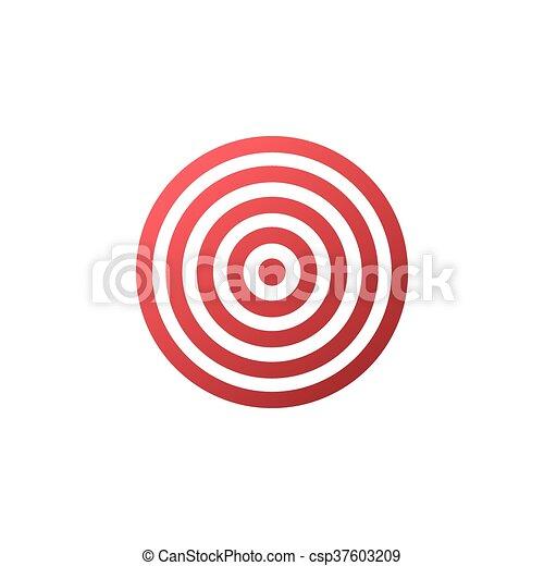 Target icon - vector background. - csp37603209
