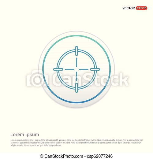 Target Icon - white circle button - csp62077246