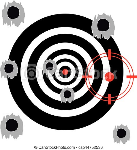 Target on white background - csp44752536