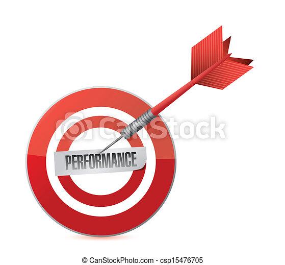 target performance. illustration design - csp15476705