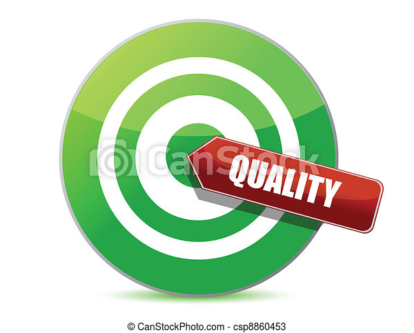 target quality illustration design over white design vectors rh canstockphoto com quality clip art cartoons quality clipart images
