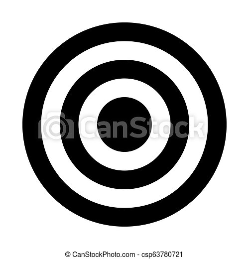 Target Sign Black Simple Transparent Isolated Vector