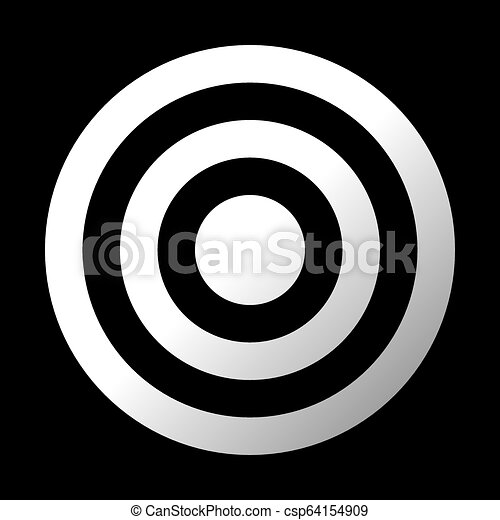 Target Sign White Gradient Transparent Isolated Vector
