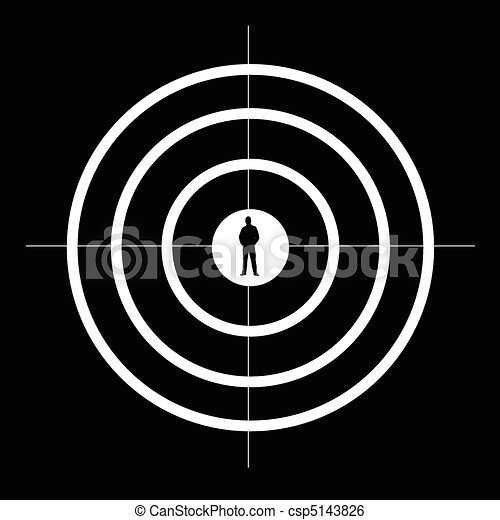 Target white and man silhouette csp5143826