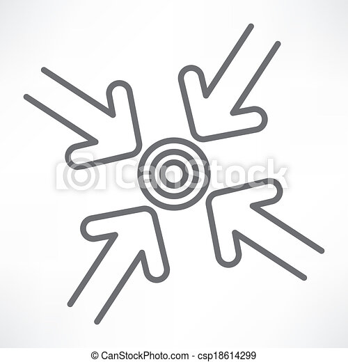 Target with arrows - csp18614299