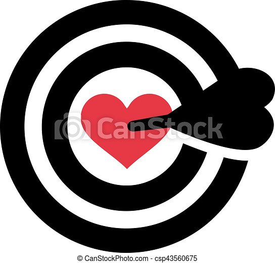 Target With Heart In The Middle