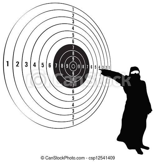 target with man vector illustration - csp12541409