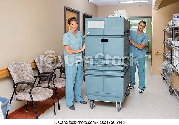 targonca, bejárat, betegápolók, rámenős, kórház - csp17565448