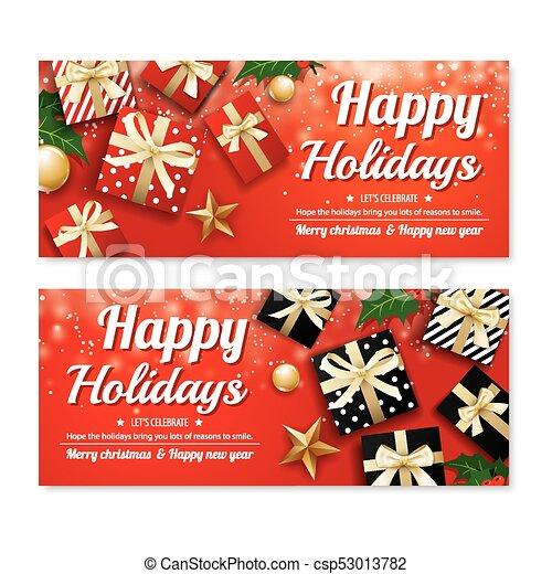 Invitación De Feliz Poster De Navidad Y Plantilla De Diseño
