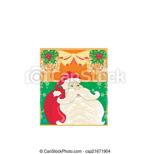 Una tarjeta de Navidad con Santa Claus - csp21671904