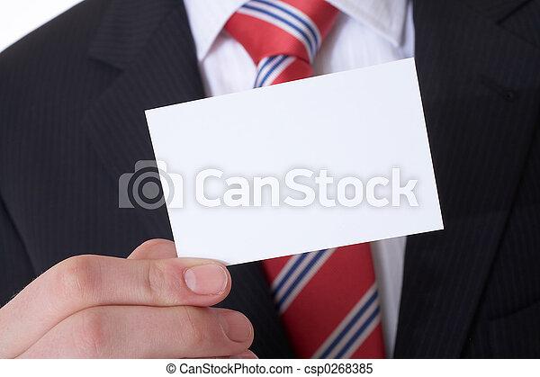 Tarjeta de negocios - csp0268385