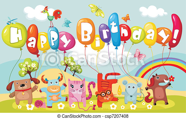 tarjeta de cumpleaños - csp7207408