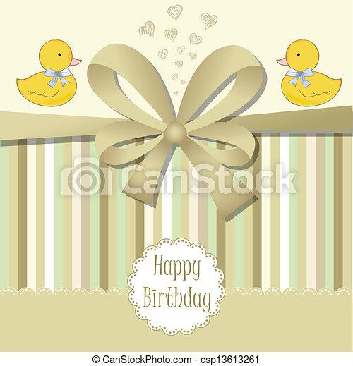 Feliz tarjeta de cumpleaños - csp13613261