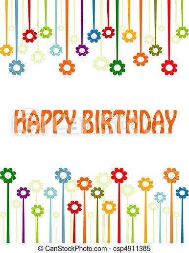 Feliz tarjeta de cumpleaños - csp4911385