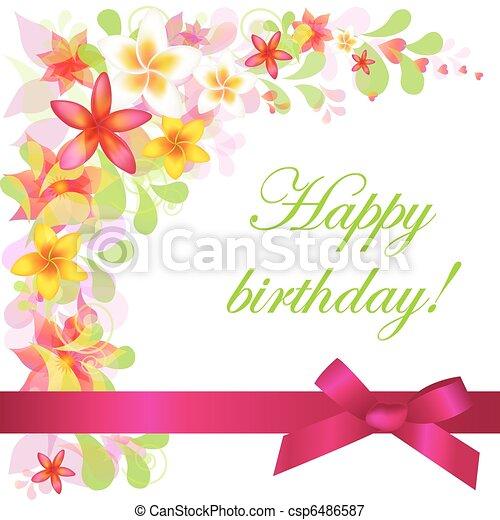 Tarjeta de cumpleaños - csp6486587